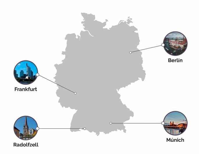 mapa ciudades para estudiar en alemania