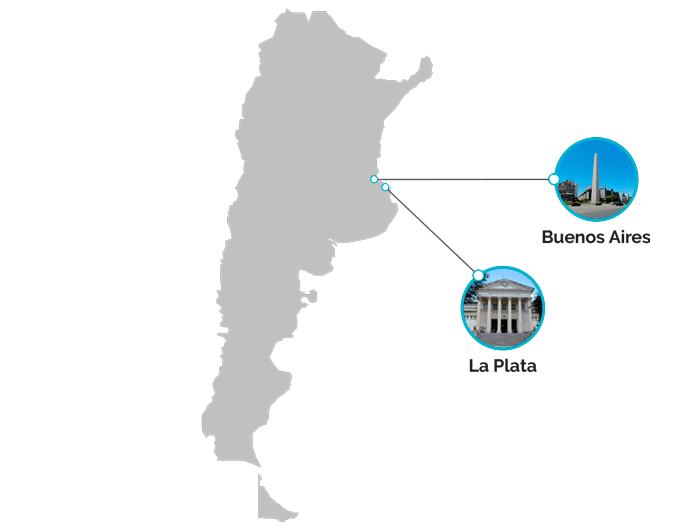 mapa estudair en argentina