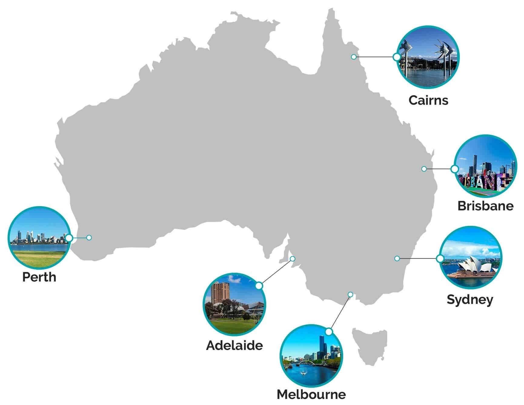 estudiar en australia mapas